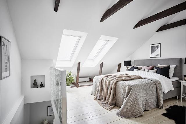 Amazing and stylish scandinavian attic apartment