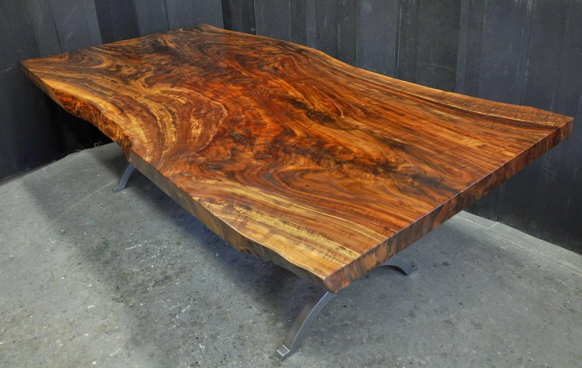 dorset custom furniture a woodworkers photo journal a live edge claro walnut table. Black Bedroom Furniture Sets. Home Design Ideas