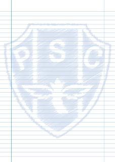 Papel Pautado do Paysandu PDF rabiscado para imprimir na folha A4