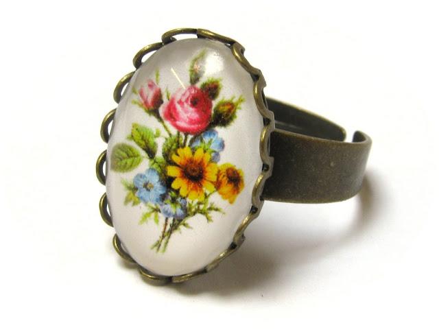 DIY ring met bloemen