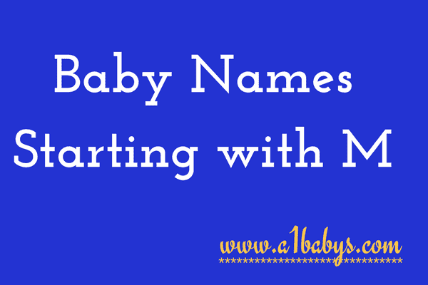 baby girl names starting with M