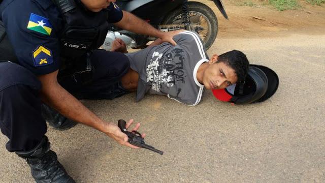 Jovem pratica assalto e acaba preso pela PM de Ji-Paraná