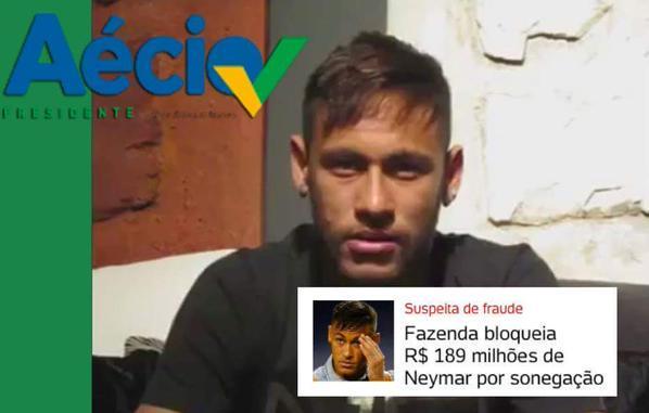 Resultado de imagem para Neymar com Aécio