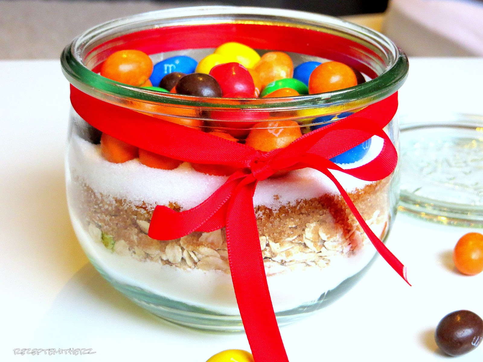 Extrem Backmischung im Glas: Cookies mit M & Ms ♡ NY37
