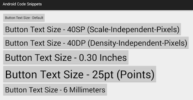 How To Set Button Text Size In Android