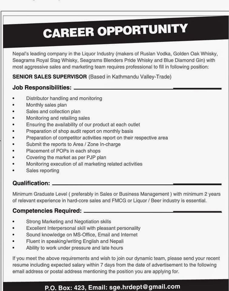 Job vacancy announcement template