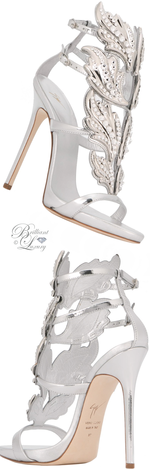 Brilliant Luxury ♦ Giuseppe Zanotti Embellished Cruel Sandals