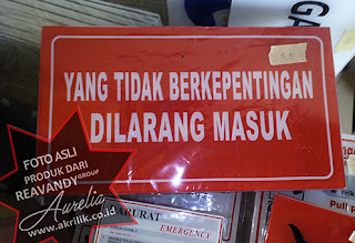 signage dilarang masuk