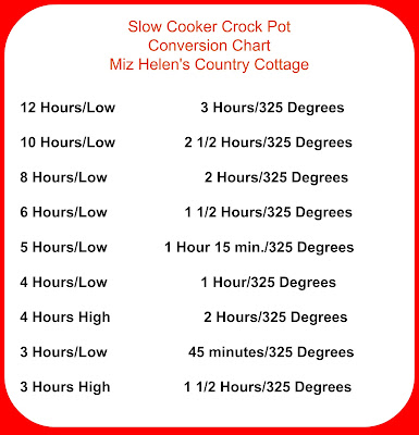 Slow Cooker Conversion Chart At Miz Helen's Country Cottage