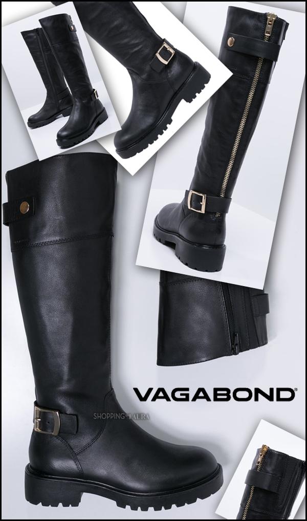 Des bottes noires style motard VAGABOND