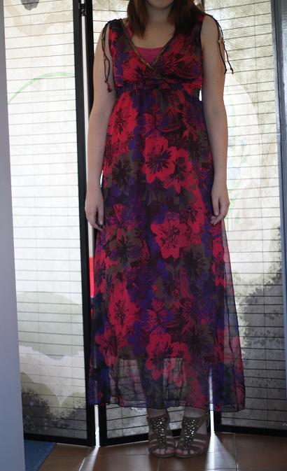Tenue du jour : En robe longue...