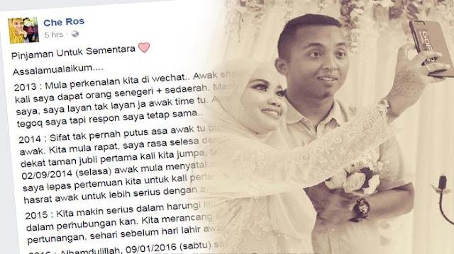 Calon Suaminya Meninggal Dunia Jelang Pernikahan, Curhatan Wanita Ini di Akun Facebook Mengharukan [siapkan tisu yang banyak baru baca]