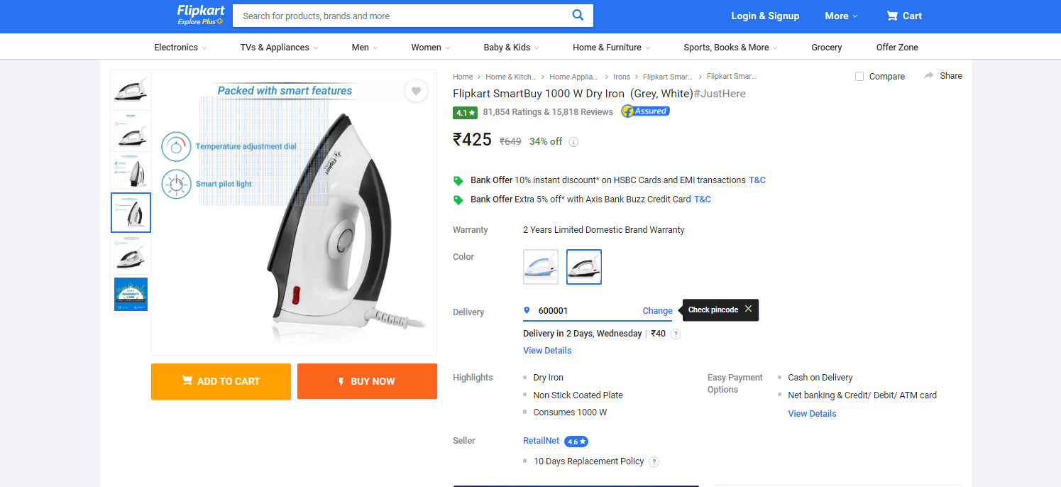 flipkart smart buy products