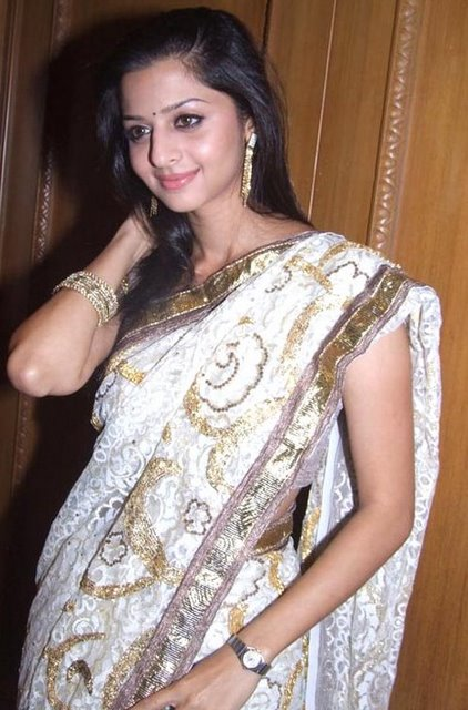Vedhika Beautiful Malayalam Girl Photos In White Saree