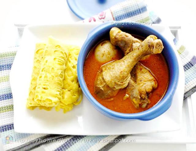 Citra's Home Diary: Kari Ayam dengan roti jala / #Indonesian style Chicken #Curry serve with net