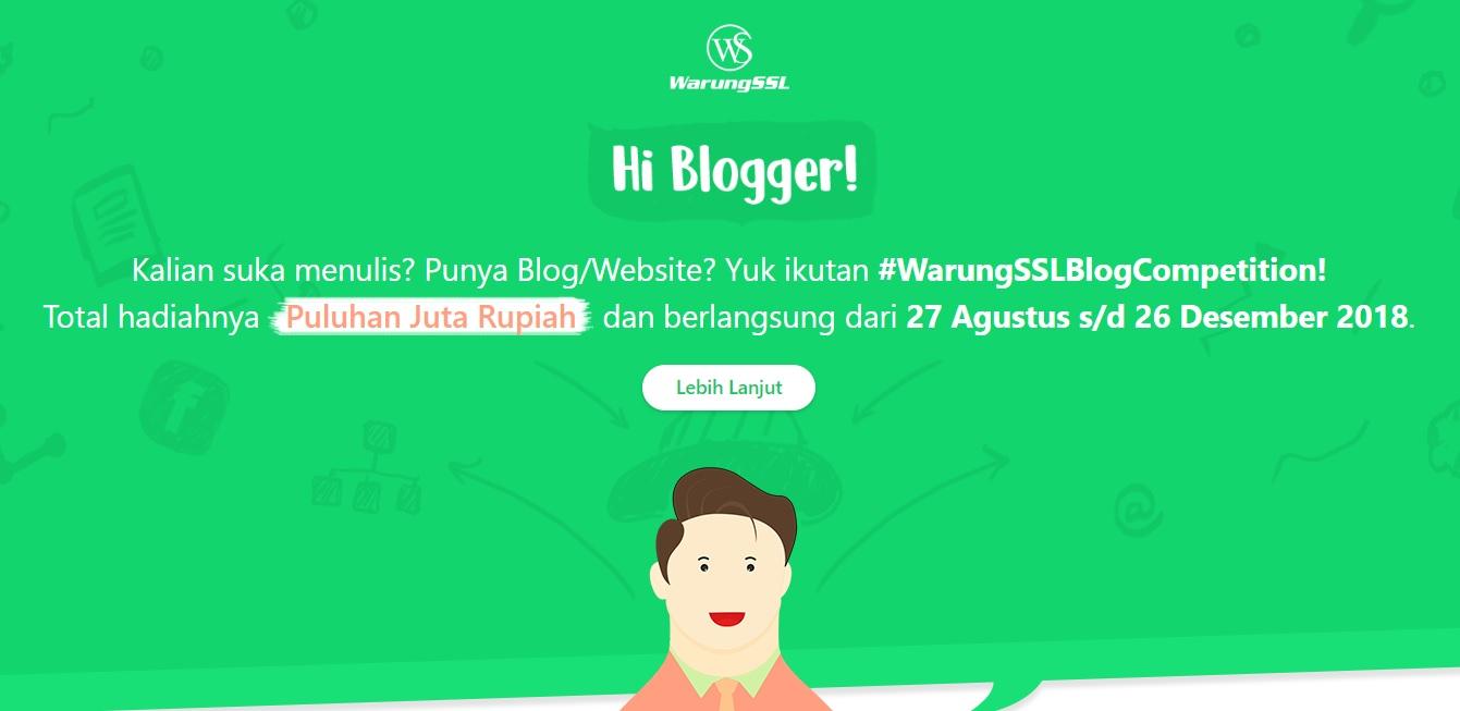 Warung SSL Blog Competition Total hadiahnya Puluhan Juta Rupiah