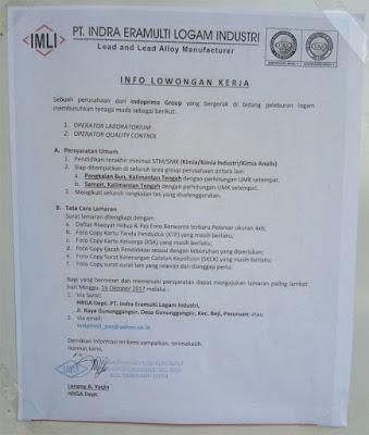Loker PT Indra Eramulti Logam Industri Pasuruan