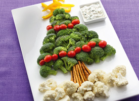 Christmas Tree Veggie Tray.Be Different Act Normal Edible Christmas Trees Christmas