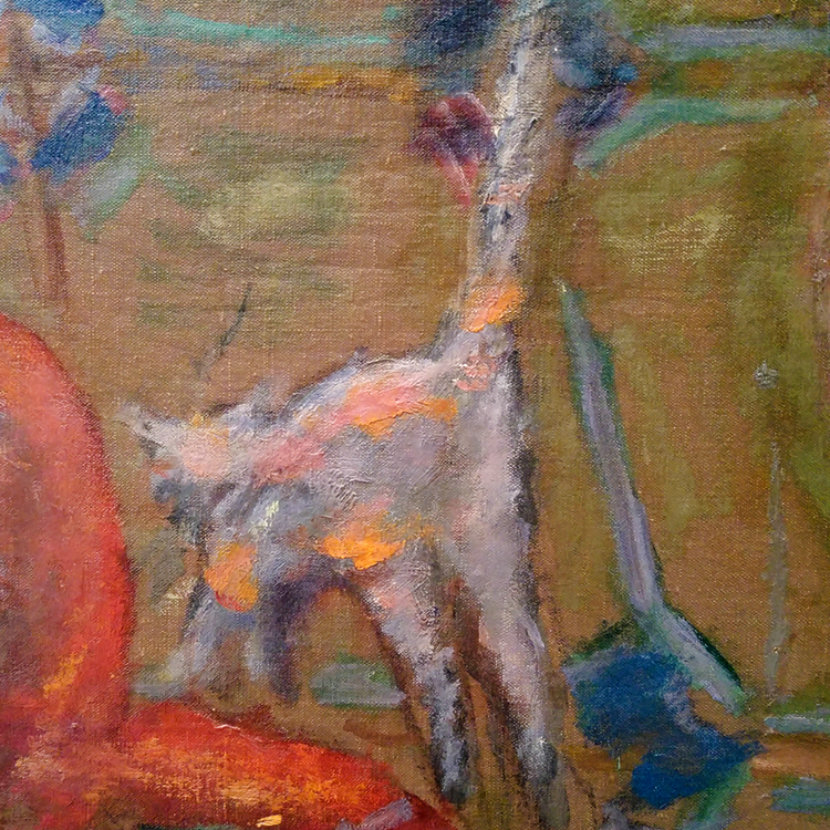 white kitty detail from pierre bonnard painting