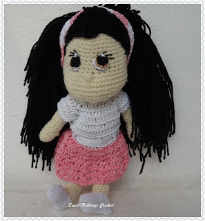 free crochet doll pattern, free crochet amigurumi, free crochet candy doll pattern, free crochet toy pattern