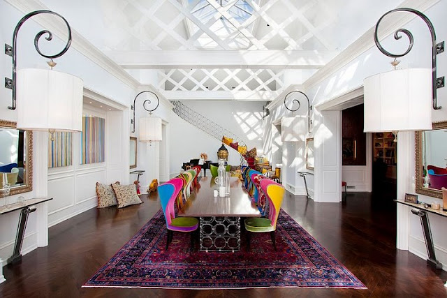 dining mixture carpet colorful vintage Ideas