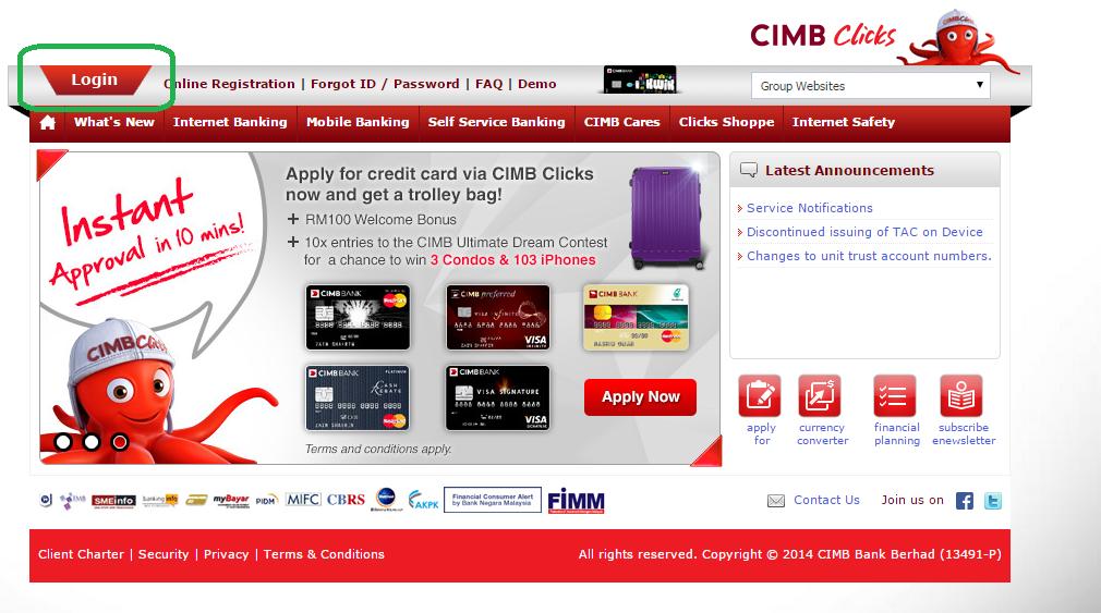 Bahtera Life: Cara transfer duit menggunakan CIMB clicks