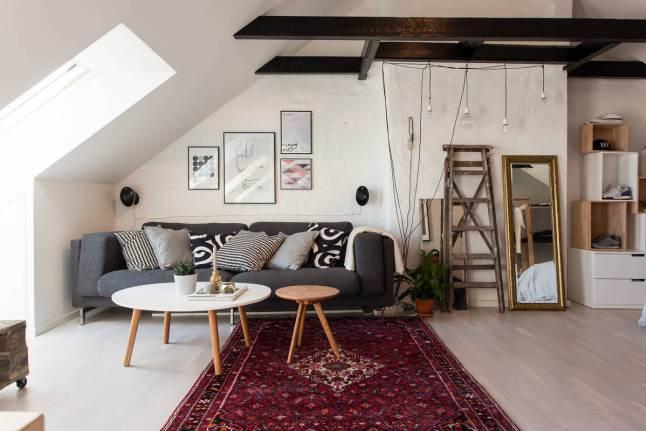 Mesas de estilo nórdico y detalles de estilo vintage.
