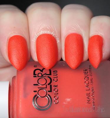 color club matte rouge perfect pout swatch