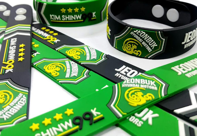 All ticket holders will receive a Kim Shin-wook wristband this weekend as part of Jeonbuk's Kim Shin-wook day. Judging by the popularity of the far simpler Kim Bo-kyung wristbands amongst local school children, the club maybe onto another winner here. (Photo Credit: Jeonbuk Official Facebook Page)