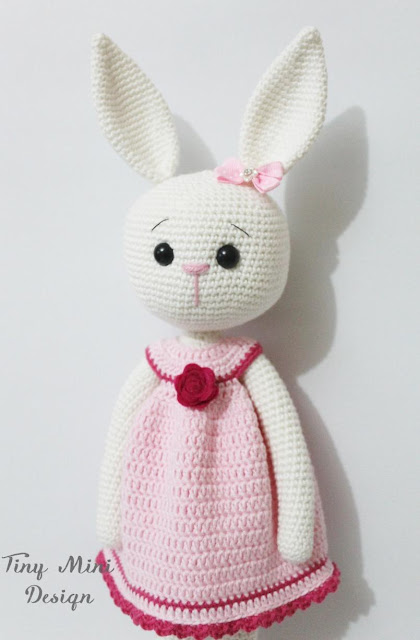 Amigurumi Bunny Girl : Amigurumi Cracker Girl Bunny Free Pattern-Part-3 - Tiny ...