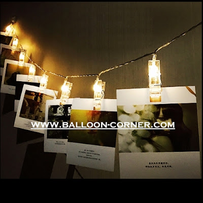 Klip Penjepit Foto LED String Lights (Battery Operated)