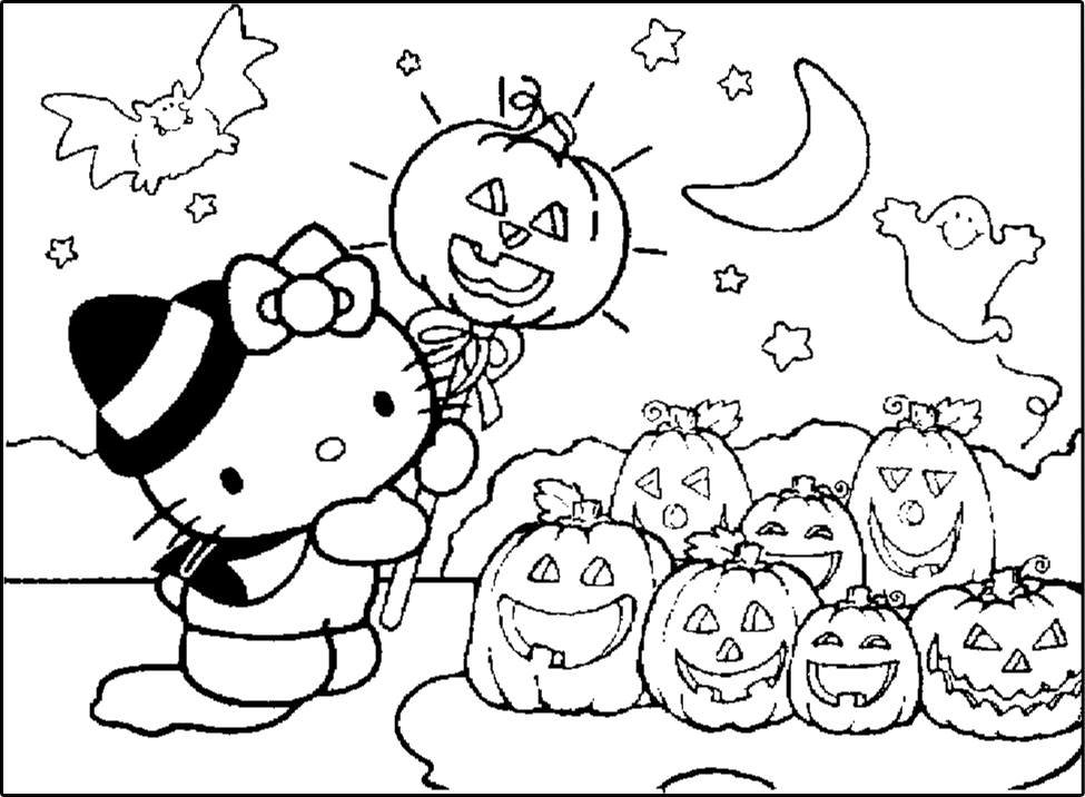 kawaii halloween coloring pages - photo#18