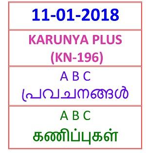 11-01-2018 A B C Predictions KARUNYA PLUS (KN-195)