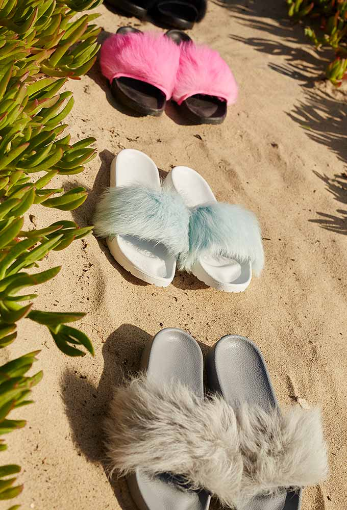 Women's Royale Fur Sandals