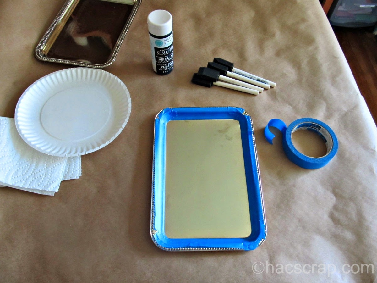 DIY Chalkboard Tray Supplies