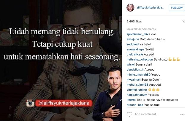 Instagram Dato' Aliff Syukri