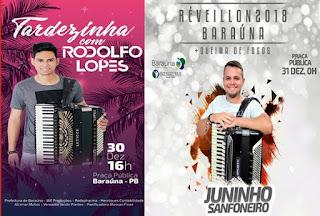 Neste sábado, Rodolfo Lopes é atração da 1ª festa de confraternização dos servidores de Baraúna