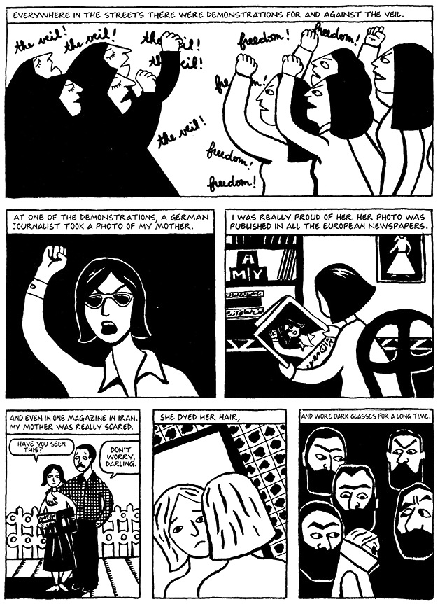Read Chapter 1 - The Veil, page 3, from Marjane Satrapi's Persepolis 1 - The Story of a Childhood