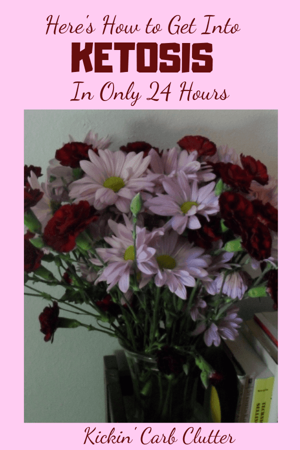 Pinterest Image: Flowers that Hubby Bought for Me