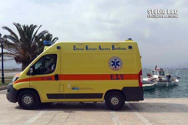 Άμεση επέμβαση του ΕΚΑΒ σε περιστατικό υγείας νεαρής γυναίκας στο λιμάνι του Ναυπλίου