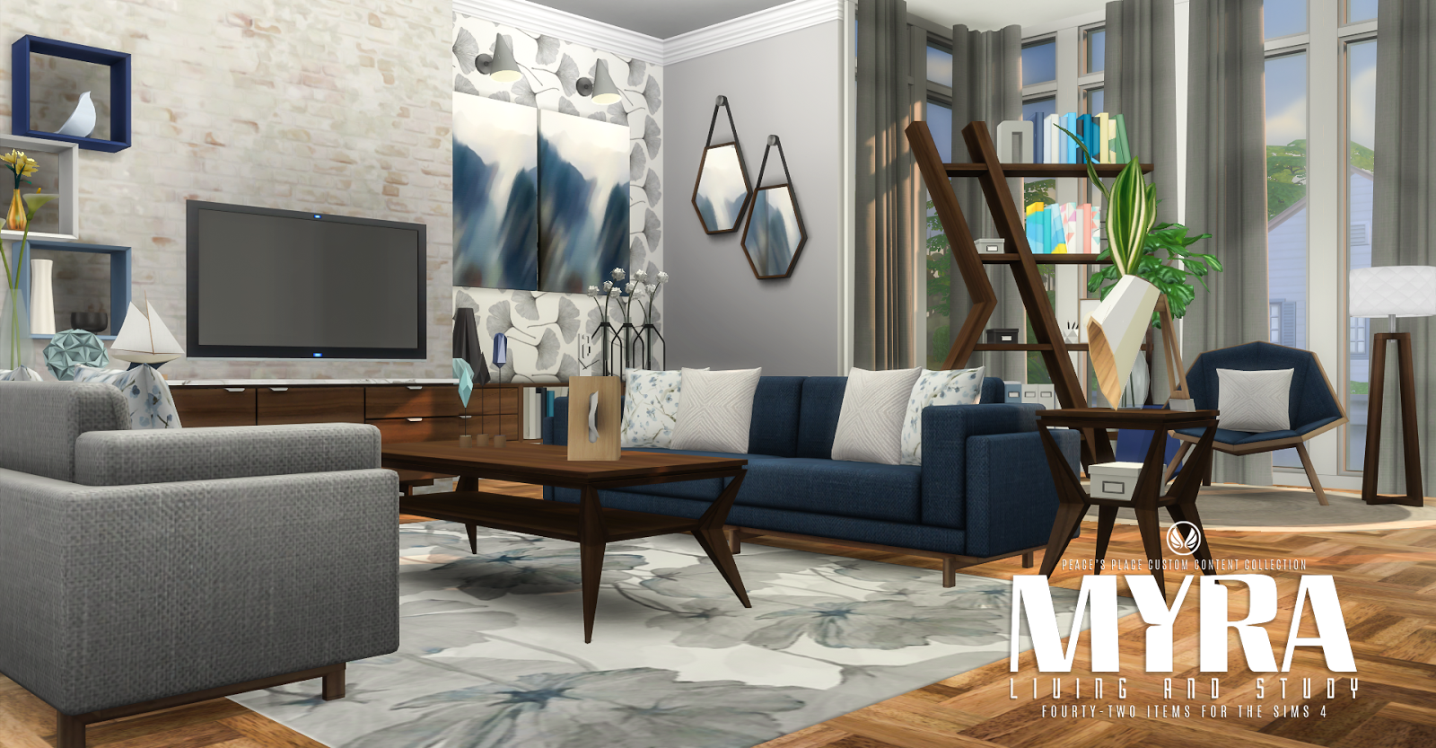 My Sims 4 Blog: Myra Living Room Set by Peacemaker ic
