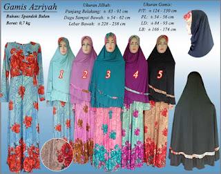 Gamis syar'i motif bunga setelan jilbab terbaru