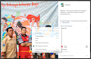 Cara nyimpan foto Instagram dengan kode HTML