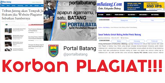 Kronologi Korban Plagiat Portal Batang