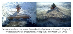 Be sure to clear the snow from the fire hydrants.