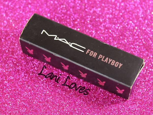 MAC Monday: MAC X Playboy - Bunny Pink Lipstick Swatches & Review