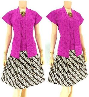 Rok-Blouse-Batik-Thalia motif batik parang kecil ungu