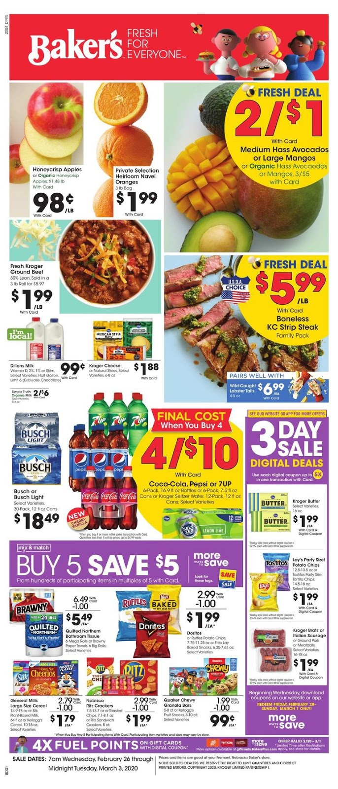 ⭐ Bakers Ad 2/26/20 ⭐ Bakers Weekly Ad February 26 2020