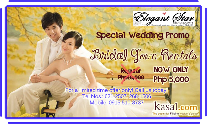 Special Wedding Promo By Elegant Star Photos And Gowns For As Low P5000 Brides Can Rent New Season From Taiwan