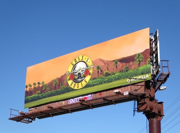 Guns N Roses Coachella billboard